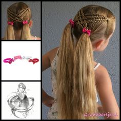 Cute girls hairstyles, cute hairstyles with braids, pigtail hairstyles, tod Pigtail Hairstyles, Pigtail Braids, Cute Girls Hairstyles, Princess Hairstyles, Braided Hairstyles, Rocker Hairstyles, Child Hairstyles, Hairstyles Videos, Hairdos