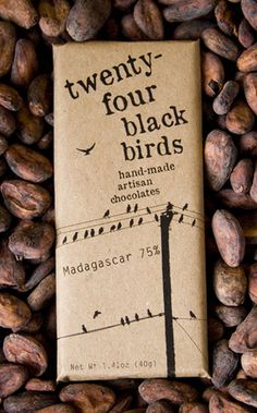 packaging / 24 black birds - chocolate