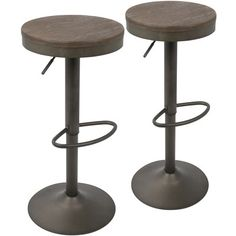 Laurel Foundry Modern Farmhouse Chambord Adjustable Height Swivel Bar Stool Finish: Antique/Brown