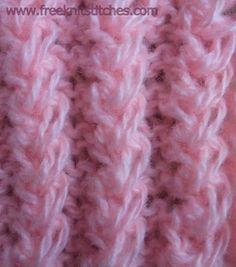 Chain Rib knitting stitch