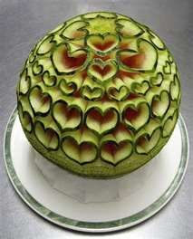 watermelon carving...food or art?