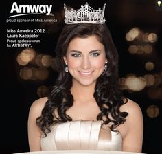 Amway is proud to sponsor the Miss America Organization, the world's largest provider of scholarship assistance for young women. Our ARTISTRY® brand is the exclusive skincare and cosmetics provider for Miss America.