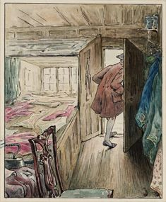 Artwork page for 'The Tailor Leaving his Workshop', Helen Beatrix Potter, Beatrix Potter Illustrations, Beatrice Potter, Peter Rabbit And Friends, Tate Gallery, Pen And Watercolor, Whimsical Art, Book Illustration, Art Illustrations, Fine Art Prints