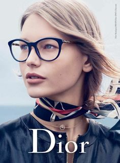 Dior fall-winter 2016 eyewear advertisements, Sofia Mechetner by Peter Lindbergh