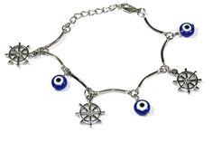 Dharma Chakra With Evil Eye Bracelet