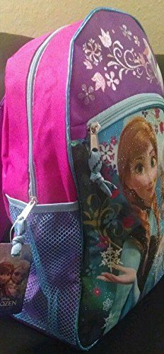 Disney Frozen Large Backpack with Elsa Frozen Lunch Box (2 Bonus Folders Included too) -- Trust me, this is great! Click the image. : backpacking packs
