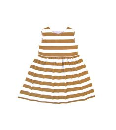 Mustard Stripe Dress  Summer Dress  Stripe by LittleFootBoutique