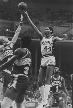 George Gervin ( The Iceman ). The Iceman was the first basketball player that I followed. I would look up his stats in the paper. I wanted them to be able to beat the Lakers every year, but Kareem was so much better than Gilmore. The way he played the game was different than anyone else I had ever seen.
