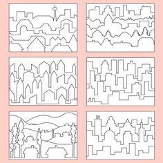 Farbperspektive - Stadt PDF | Labbé Art Education Lessons, Art Lessons Elementary, Elementary Education, Middle School Art, Art School, Classe D'art, Monochromatic Art, Contemporary Art Prints, Perspective Art