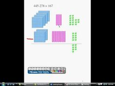 ▶ Subtraction with Base-ten blocks - YouTube