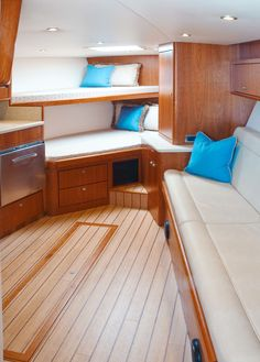 Ocean Yachts 37 Express Interior, for sale by Kusler Yachts