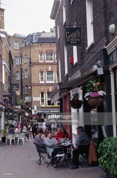Stock Photo : Cafes in Shepherd Market England Uk, London England, Summer Solstice, London Photos, West London, London Calling, Best Cities, Vintage Photos, Chelsea