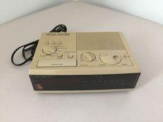 Vintage SONY DREAM MACHINE ICF-C3W FM AM Digital Clock Radio Simulated Wood #Sony