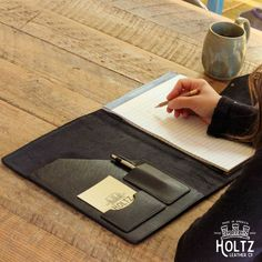 The Vanderbilt Fine Leather Portfolio Padfolio Leather Notebook, Leather Journal, Office Accessories, Leather Accessories, Travel Accessories, Holtz Leather, Mens Monogram, Leather Folder, Leather Portfolio
