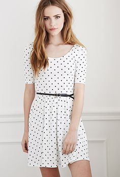 Belted Polka Dot Dress | Forever 21 - 2000134282 | Want it in white and navy