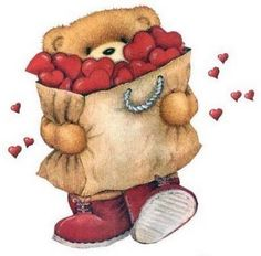 From my beautiful sister, Therese! Bear Images, Teddy Bear Pictures, Tatty Teddy, Fizzy Moon, Valentine's Day Printables, Cute Teddy Bears, Illustrations, Beautiful Drawings, Cute Images