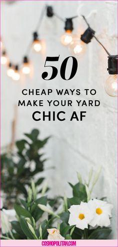50 DIY Backyard Design Ideas - DIY Backyard Decor Tips It doesn't take a lot to have a beautiful backyard. Backyard Ideas For Small Yards, Backyard Garden Design, Small Backyard Landscaping, Landscaping Ideas, Patio Ideas, Outdoor Ideas, Outdoor Decor, Backyard Gates, Inexpensive Landscaping