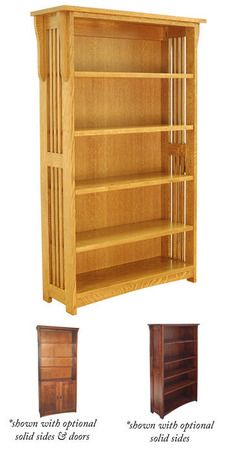 Mission Bookcases, Office Mission Furniture, Tree Crowns Furniture, Mission Furniture