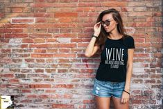 Wine because adulting is hard t-shirt funny t-shirt ladies t-shirt cure t-shirt wine t-shirt great gift present idea Hipster Women, Hipster Girls, Female Hipster, Blank T Shirts, Tee Shirts, Tees, Girls Wear, Women Wear, Winter Shorts
