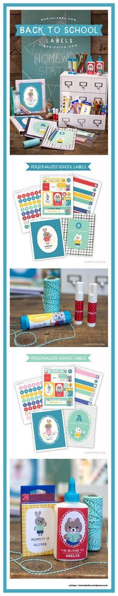 Back to School Label Printable Set Boys and Girls Printable Labels, Printables, School Labels, Back To School, Boy Or Girl, Parties, Packaging, Fiestas, Print Templates