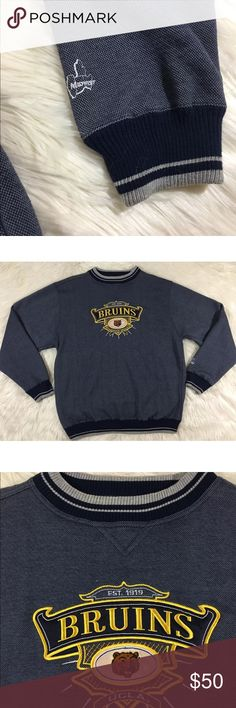 """Vtg Bruins Embroidered UCLA Pullover Sweater Excellent condition. Size XL. Measurements are taken flat and approximately: Pit to pit: 25""""  Length: 29.5"""" UCLA Sweaters Crewneck"""