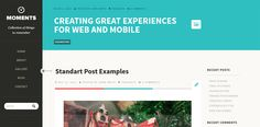 Moments, a clean blogging theme with bold typography