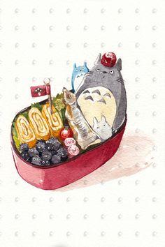Studio Ghibli der Totoro Bento Box von PenelopeLovePrints auf Etsy