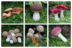 awesome crochet mushrooms