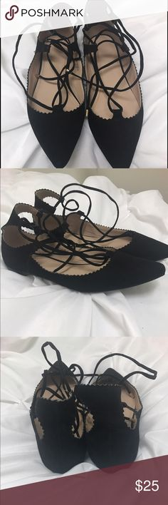 BARELY WORN Topshop lace up flats Barely worn Topshop Shoes Flats & Loafers
