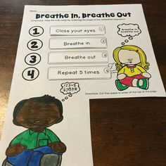 A cut and paste page about breathing in and out. Autism Books, Social Skills Autism, Behavior Support, Autism Classroom, School Themes, Cut And Paste, Pinterest Board, Classroom Organization, Special Education