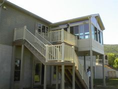 1000 images about covered 2nd floor deck sunroom on Two story sunroom