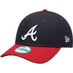 a99d79cbdb5 Men s New Era Navy Red Atlanta Braves Replica U.S. Flag Patch 9FORTY  Adjustable Hat