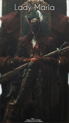 Lady Maria from bloodborne art Dark Fantasy Art, Dark Art, Bloodborne Maria, Lady Maria, Arte Dark Souls, Soul Saga, Old Blood, Sang, Arte Horror