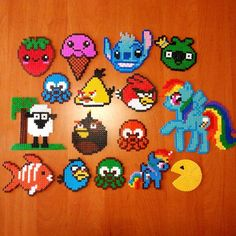 Hama perler bead crafts by xcarrion