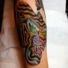 Ruby Quilter as featured on Swallows & Daggers. www.swallowsndaggers.net #tattoo #tattoos #tiger #cat