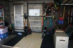 Doesn't take as much space as you think to get set up with a garage gym. This 8x8 lifting platform and squat rack is all you need to deadlift, squat, bench, press, clean, and snatch... plus whatever accessory work you need to do. No excuses!