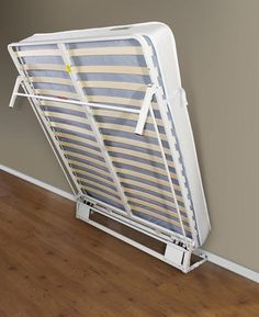 Simple hinged drop down bed, max size with current closet door height will be a double.