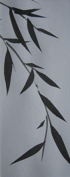Bamboo pendant branch study