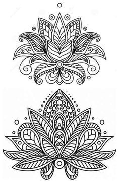 Would make a nice, colorful embroidery pattern. Mandalas Drawing, Mandala Coloring Pages, Mandala Painting, Coloring Book Pages, Dot Painting, Coloring Sheets, Doodle Coloring, S Tattoo, Mandala Tattoo