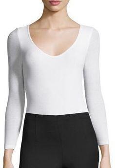 ATM Anthony Thomas Melillo Ballet Rib-Knit Bodysuit
