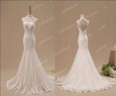 """""""lace wedding dress mermaid wedding dresses by sofitdress on Etsy, $329.00."""" I ABSOLUTELY LOVE THIS!!!"""