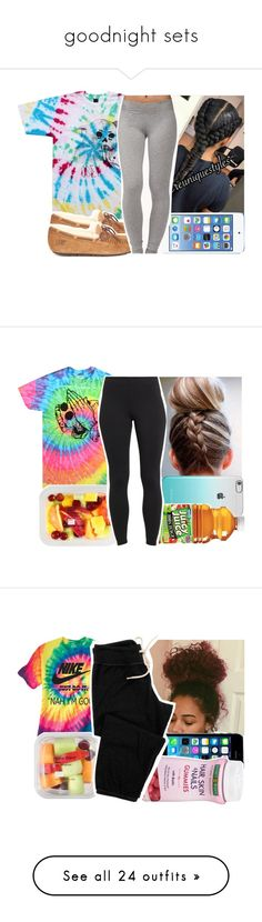 """""""goodnight sets"""" by aribearie ❤ liked on Polyvore featuring OBEY Clothing, UGG, Forever 21, Maidenform, FingerPrint Jewellry, Monrow, Opening Ceremony, Hot Topic, H&M and NIKE"""