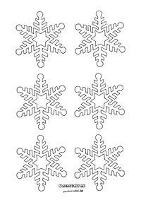 Snehová vločka - vystrihovačka na okno