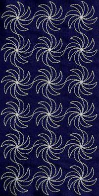 Sashiko pattern flower.