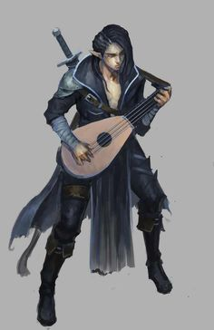 m Half High Elf Bard Lute Sword Cloak Dungeons & Dragons: Bards & Monks (inspirational) - Imgur