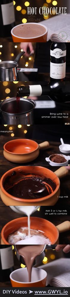 When you want something that will keep you extra cozy after a long hard day of work, this perfect drink may be just what you need! Hot chocolate with red wine??? YES, please! ;) | See video and written instructions here: http://gwyl.io/wouldnt-love-hot-chocolate-red-wine/
