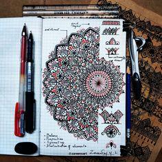 Doodle Art Drawing, Cool Art Drawings, Pencil Art Drawings, Art Sketches, Mandala Art Lesson, Mandala Artwork, Mandala Sketch, Mandala Drawing, Mandala Pattern