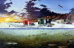 27 best mille lacs ice fishing images ice fishing log cabin homes rh pinterest com