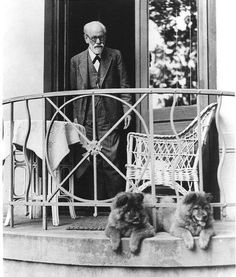 Sigmund Freud and his dogs