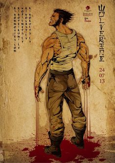 Wolverine poster - the new movie comes out in July. Stop by and check out one of the classic Wolverine stories!